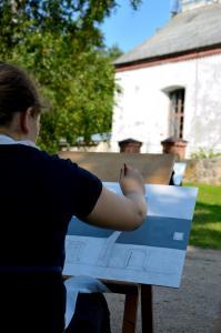 """Gleznošanas plenērs """"Baznīca vasaras krāsās"""""""